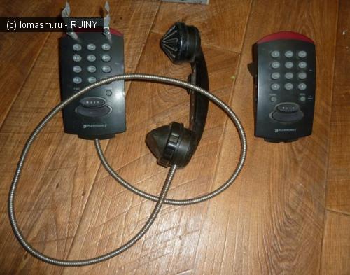 Прикольный телефонный аппарат заточенный под гарнитуру или Переделка под олдовый девайс - присандалена старая советская трубка